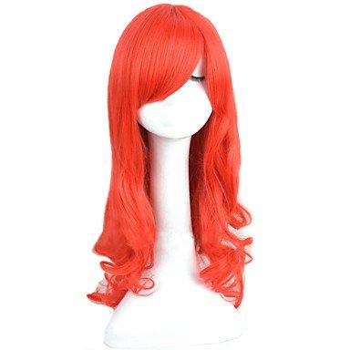 Fashion wigstyle angelaicos Damen Prinzessin Ariel die kleine Meerjungfrau rot gelockt lang Halloween Party Kostüm Cosplay Haar Volle (Für Erwachsene Kostüme Ariel Prinzessin)