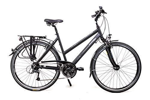 28 Zoll Alu Damen Trekking Bike Shimano Deore 24 Gang Nabendynamo schwarz Rh 53