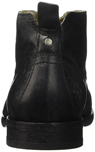 Hudson London Herren Cooke Calf Stiefel Schwarz - Schwarz (Black)