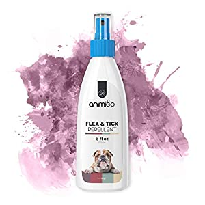 Animigo Flea & Tick Repellent for Dogs - Pest Protection Spray - Skin Treatment - For Fleas, Ticks, Flies & Mites - With an Essential Oil Blend - Non-Toxic - Safe for Dogs - 175ml/6fl oz Spray 20
