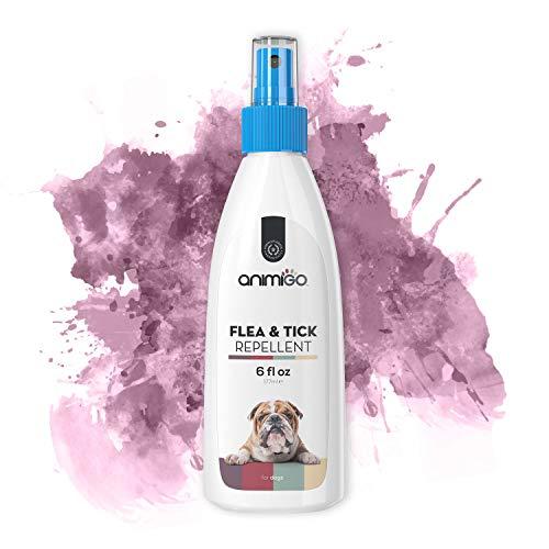 Animigo Flea & Tick Repellente Spray per Cani - Contro Parassiti Come Pulci, Zecche...