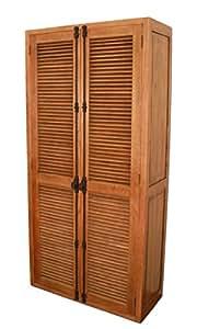 gro er schrank mit lamellent ren aus eichenholz gekalkter eiche k che haushalt. Black Bedroom Furniture Sets. Home Design Ideas