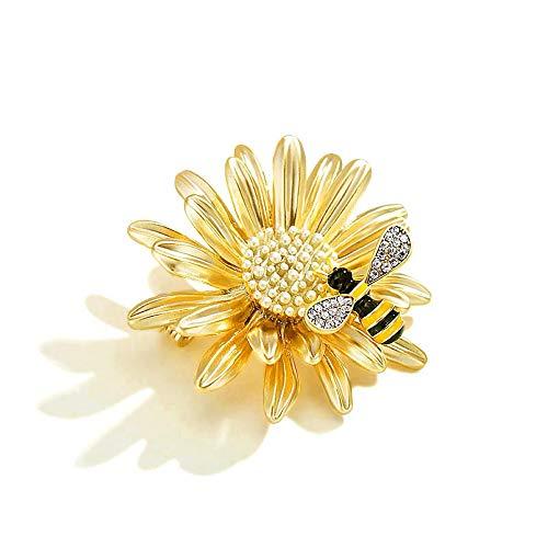 Eröffnung von Daisy Insect Wing Honey Bee Broch Chrysantheme Brooch Pin Broach Coat Accessories für Frauen Mädchen