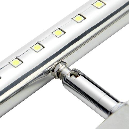 CroLED® 7W 30LED SMD5050 Edelstahl Spiegelleuchte Badlampe Spiegellampe Wandleuchte Weiß - 5
