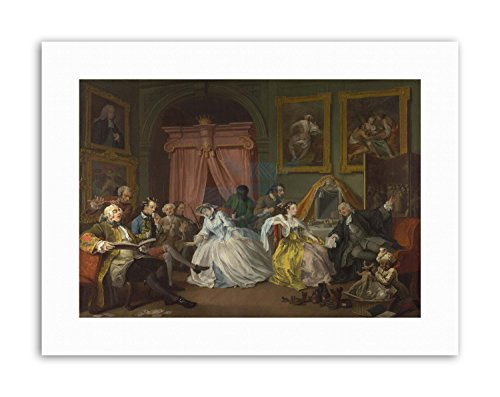 SATIRE MARRIAGE A-LA-MODE HOGARTH TOILETTE Poster Painting Canvas art Prints