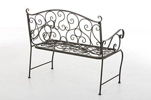 CLP Metall Gartenbank TUAN, 2-er Sitz-Bank Garten, Eisen lackiert, Design nostalgisch antik, 105 x 50 cm Bronze - 3