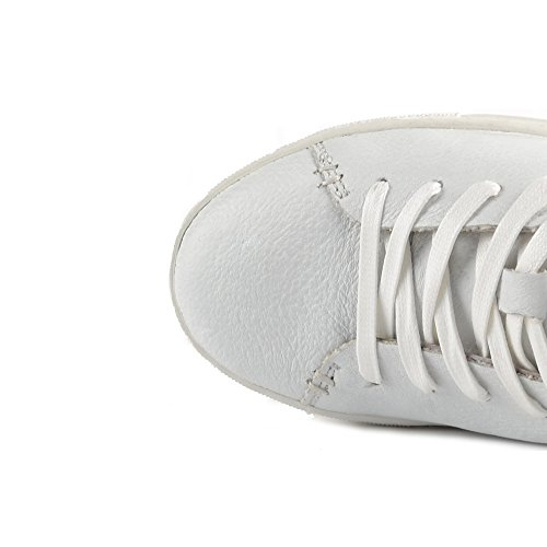 Crime London Raw Baskets a Lacets Blanc Femme Blanc