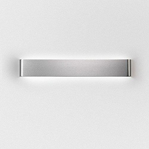 LED-Wandleuchten Innen aus Aluminium Kreative minimalistische Modern, Wandleuchte Wandlampe Flur Korridor Wohnzimmer Schlafzimmer Silber 12W Warmweiß [Energieklasse A+] (Kristalle Herzstück)