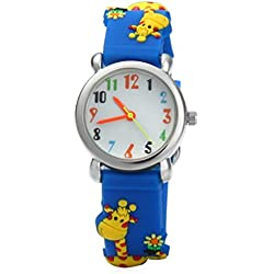 Children Watches Time Teacher Catoon 3D Animal Giraffe Environmentally friendly Silicone Boys Girls Watch