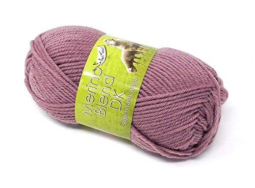 Mérinos Violet Bruyère 100% Pur Superwash. Pilule Tickle Double Crochet 50g Boule de Wool