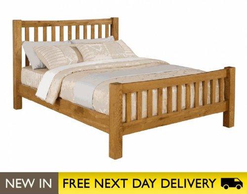 Time Living Denver Oak 5ft King Size Wooden Bed Bed Frame Only