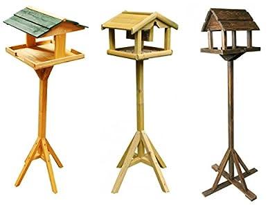 Garden Mile® Traditional Wooden Bird Table Garden Birdhouse Feeder Sheltered Feeding Station Portable Free Standing Feeding Table Station High Quality Bird Houses 3 Styles. from Garden Mile®