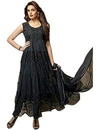 Muta Fashions Brasso Net Black Women Suit(SUIT385)