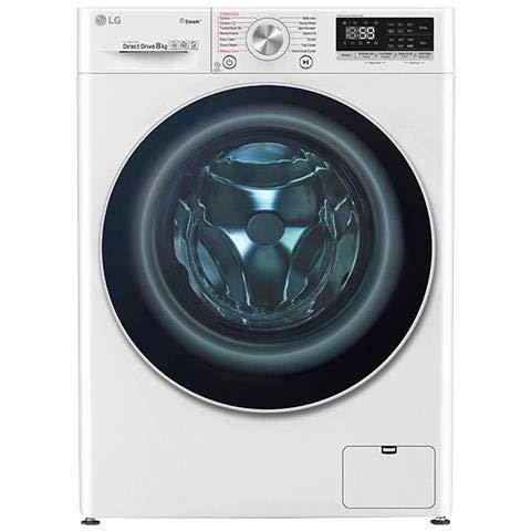 LG F4WV708P1 lavatrice Libera installazione Caricamento frontale Bianco 8 kg 1360 Giri/min A+++-40%