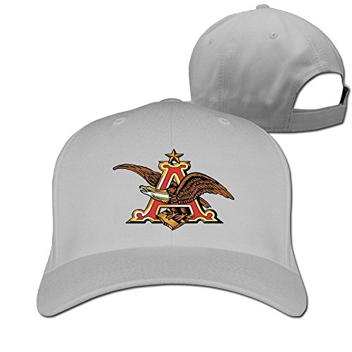 huseki-anheuser-busch-logo-hat-plain-baseball-cap-ash