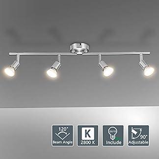 Bojim Faretti LED da Soffitto Orientabili con 4 LED GU10 6W
