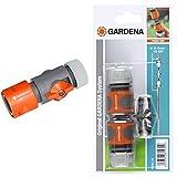 GARDENA Regulierstop: Wasserstop-Schlauchanschluss für 13 mm (1/2')- und 15 mm (5/8')-Schläuche, Wasserdruckregulierung am Schlauchende (942-50)