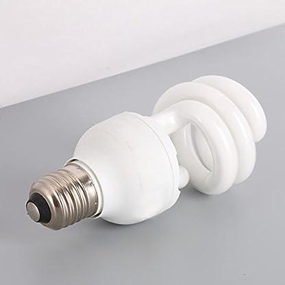 Hankyky UV Heat Lamp, UVA Reptile Basking Spot UVB 10.0 E27 220-240V 13W Glass Bulb 5