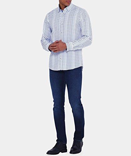 Guide London Hommes Faded shirt impression dot Bleu Bleu