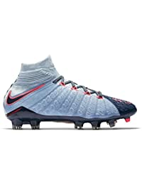 Nike JR HYPERVENOM PHANTOM 3 DF FG - Zapatillas de fútbol, Unisex infantil, Azul - (Lt Armory Blue/Armory Navy-Armory Blue)