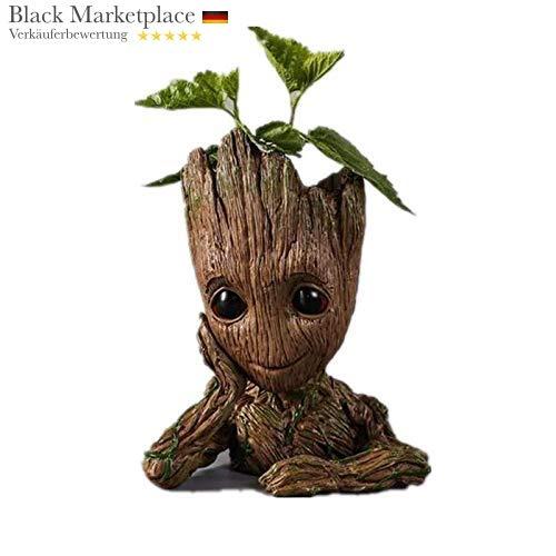 Marvel Baby Groot - Maceta con Figura - Macetero Grande para Acuario, Figura Decorativa de Madera, cenicero, portalápices