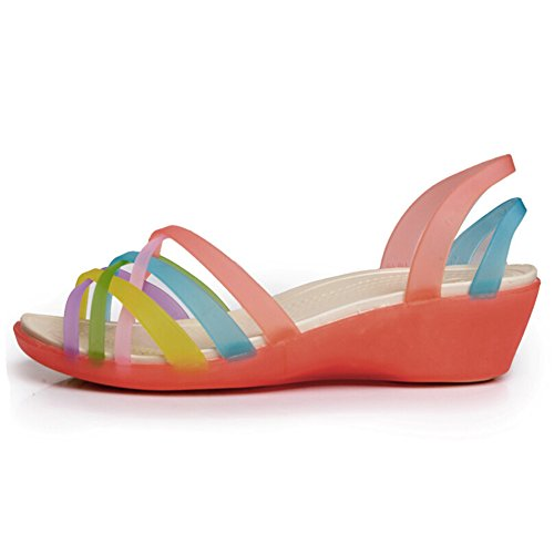 Hattie ,  Damen Peep Toes Rot (Watermelon Red)