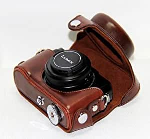 """MegaGear """"Ever Ready"""" Protective Leather Camera Case, Bag for Panasonic Lumix Lx7 (Dark Brown"""