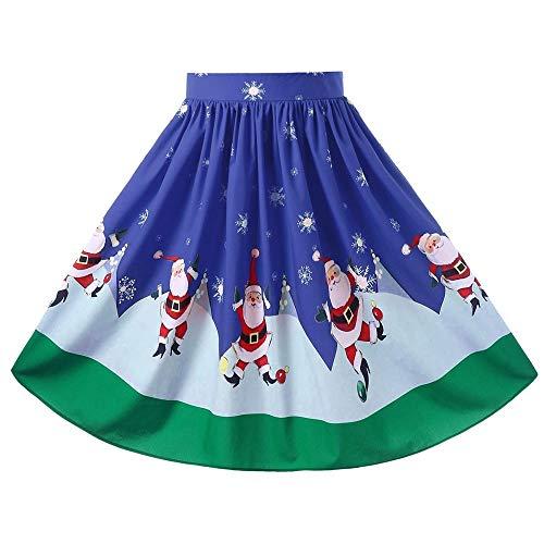 Herrlich Weihnachten Plus Size Midi-Swingrock Fledermaus und Sternendruck Halloween-Rock Damen Vintage Röcke Blumendruck Hohe Taille Gefaltet Eine Linie Wiggle Knie Länge Rock Stil Vintage Rock Knie