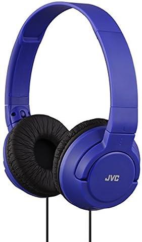 JVC HAS180 Lightweight Powerful Bass Headphones - Blue