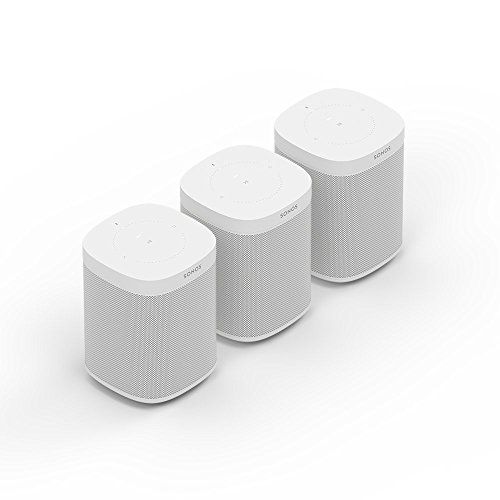 Sonos One Smart Speaker 3-Raum Set, weiß - Intelligente WLAN Lautsprecher mit Alexa Sprachsteuerung & AirPlay - Drei Multiroom Speaker für unbegrenztes Musikstreaming (Home-lautsprecher-set)