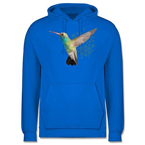 Vögel - Colibri - Männer Premium Kapuzenpullover / Hoodie Himmelblau