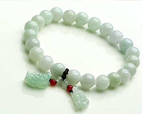 Natural Genuine Beads Jade Bracelet with handmade A++ natural brave troops Jade pendant