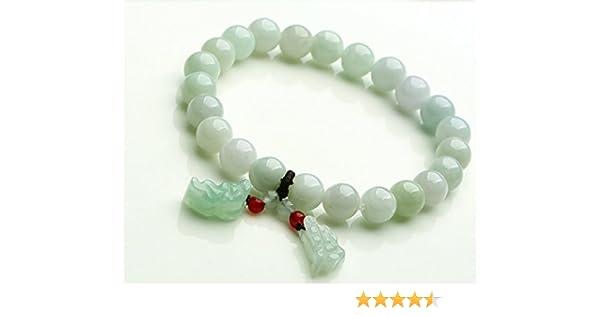 Bracelet Perles En Jade Véritable Naturel Fait à la main avec un + +  pendentif en jade naturel Brave Troupes  Amazon.fr  Bricolage 9f15801c1af0