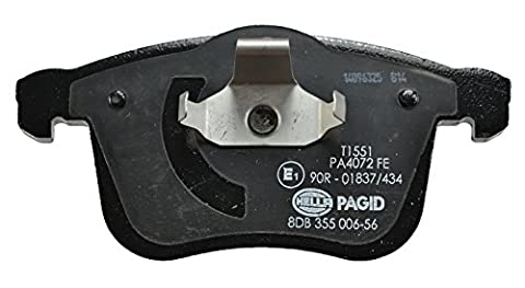 HELLA PAGID 8DB 355 006-561 Bremsbelagsatz, Scheibenbremse, Vorderachse