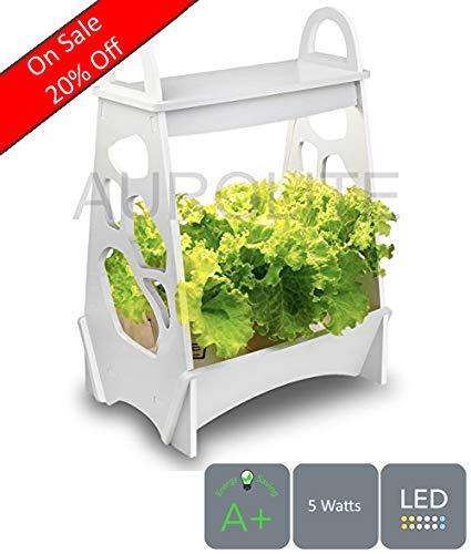 Mini giardino AUROLITE, Design Classico, LED Luce per piante, 14W, luce per coltivazione di piante a LED, 48 cm x 13,8 cm x 32 cm, ideale per la casa, l'ufficio o il ristorante