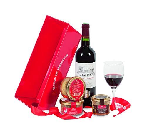 Ducs de Gascogne - Cadeau gourmand'L'instant partage' - comprend 3 produits d'épicerie fine et 1 vin - spécial cadeau - 979543
