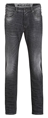 MAC Herren Jeans Ben Pipe Regular Fit Recycled Denim black legend used