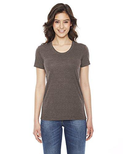 Ladies' Triblend Short-Sleeve Track T-Shirt TRI COFFEE L (American Apparel-track Shirt)