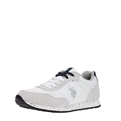 Scarpe Uomo US Polo Sneaker Running Tiguan Pelle Scamosciata/Tessuto Dark Blue US18UP19 Bianco