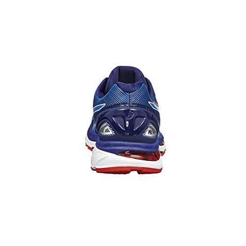 Asics Herren Gel-Nimbus 19 Laufschuhe für Das Training auf Der Straße, Indigoblue/Safetyyellow/Electricblue Blau (Diva Blue/white/indigo Blue)