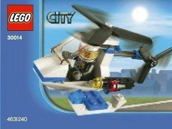 LEGO City: Polizia Elicottero Set 30014 (Insaccato)