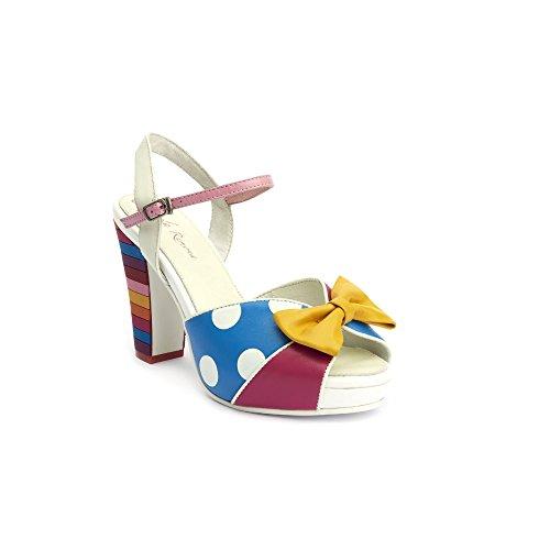 Lola Ramona Angie a pois piattaforma sandali, multicolore (Multi), 38 EU