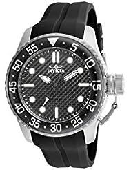 Invicta Pro Diver Herren 50mm Schwarz Silizium Armband Mineral Glas Uhr 17510