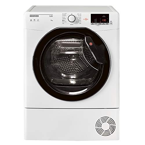 Hoover HLC9DKE Freestanding White 9kg Condenser Tumble Dryer with B Energy Rating, Delay Start, Sensor Dry and Digital Display
