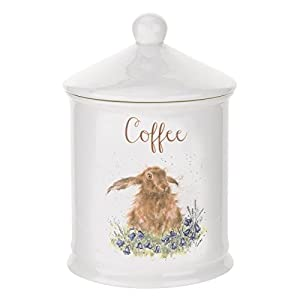 Wrendale by Royal Worcester boîte à thé motif lapin, multicolore.