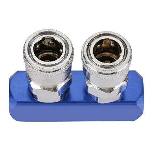 Connettore Pneumatico da 12 mm Attacco rapido per Filettatura Femmina per Tubo dell'Aria Collegamento PT1 / 4 2/3/4/5 Vie(2 Way)