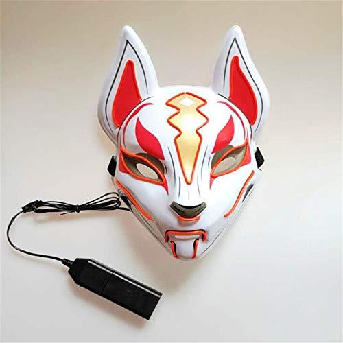 WEYQ Led Halloween Masken Scary Cosplay Lichter für Holiday Party Kostüme Fox 10 Farben Verwandeln Mehrere Muster Neonlichter (Holiday Auto Kostüm)