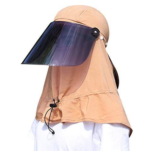TOOGOO Uv Sonnen Schutz Kappe Sommer Neu Hals Und Gesichts Schutz Kappe Au?en Radfahren Einstellbare Sonnen Schutz Kappe Khaki