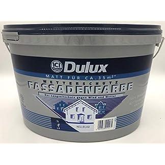 Pintura para fachadas Dulux, protección contra la intemperie, color mate, 5 litros, para aprox. 35 m², Azul