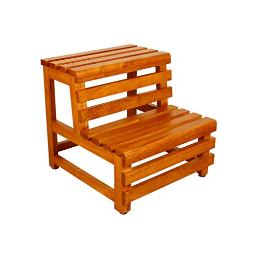 XAJGW Doble pie Step Stool-Kitchen Escaleras de Madera Adultos Niños Estante de...